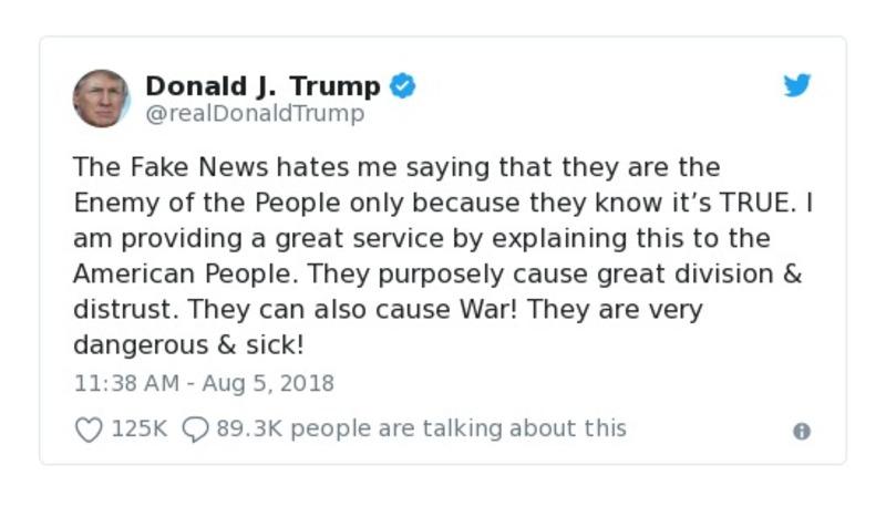 Donald J. Trump - Aug 5, 2018 - tweet