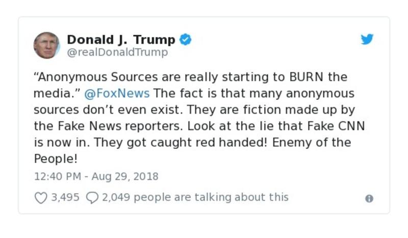 Donald J. Trump Aug 29, 2018 - tweet