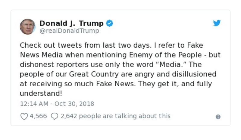 Donald J. Trump - Oct 30, 2018 - tweet