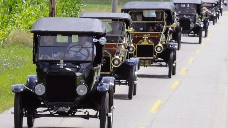 Caravan of Model-Ts