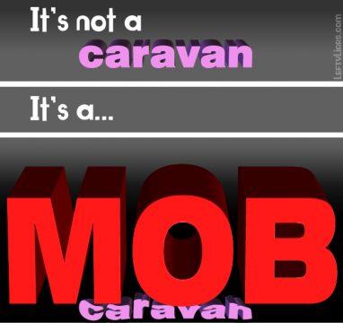 It's not a caravan - it's a mob