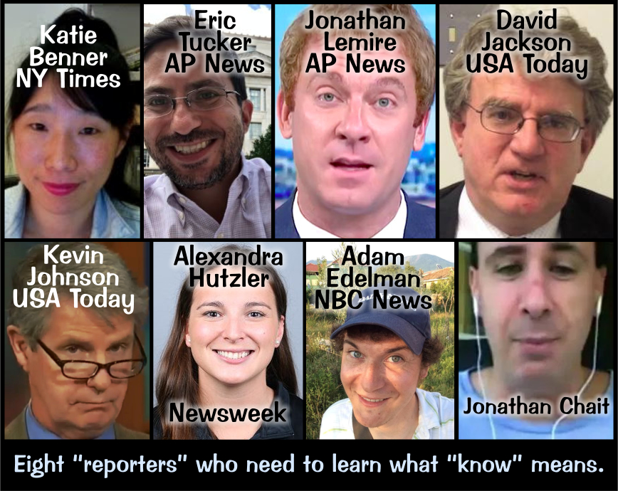 Eight Fake Reporters