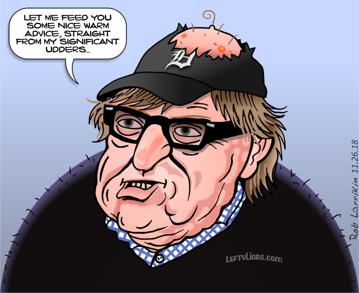 Michael Moore - Liberal advice breasts