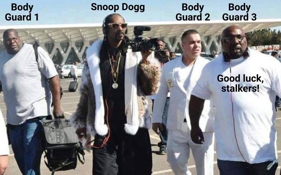 Snoop Dogg bodyguards