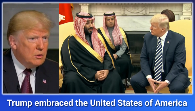 Trump embraced the United States of America