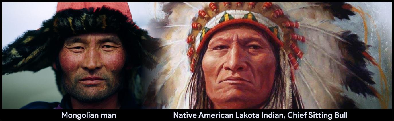 Mongolian man vs Chief Sitting Bull