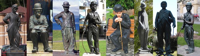 Communist Chaplin statues