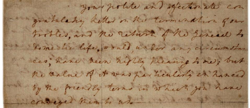 Martha Washington letter