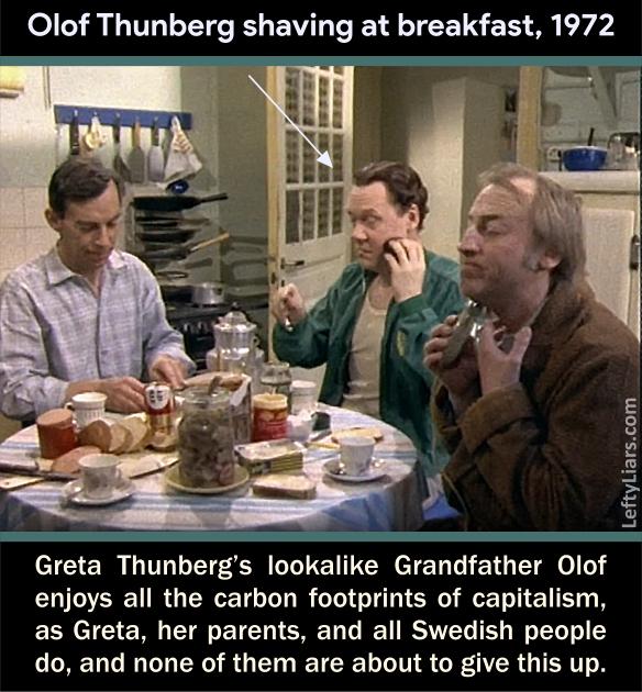 Greta Thunberg's carbon footprint