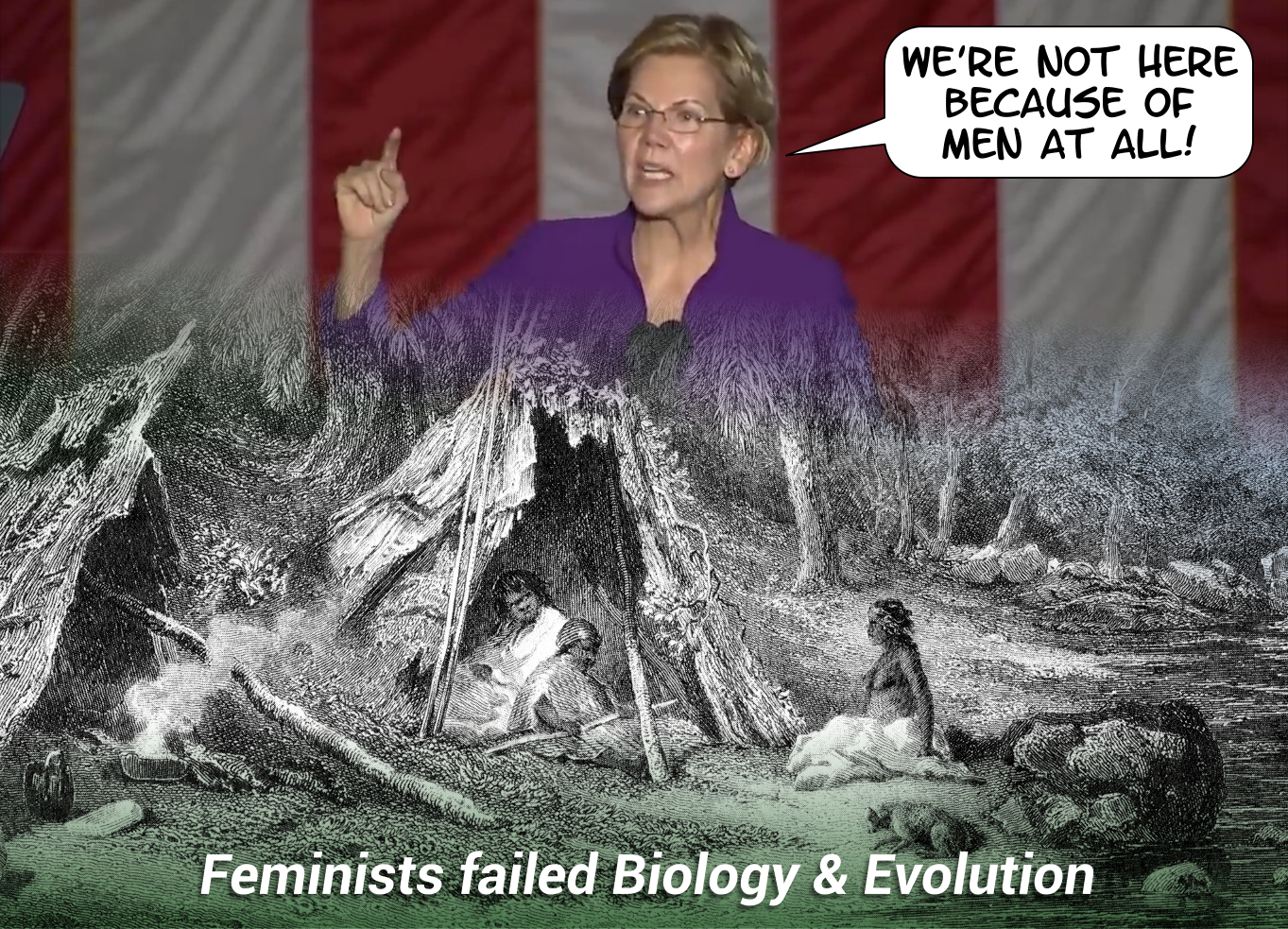 Feminists failed biology and evolution