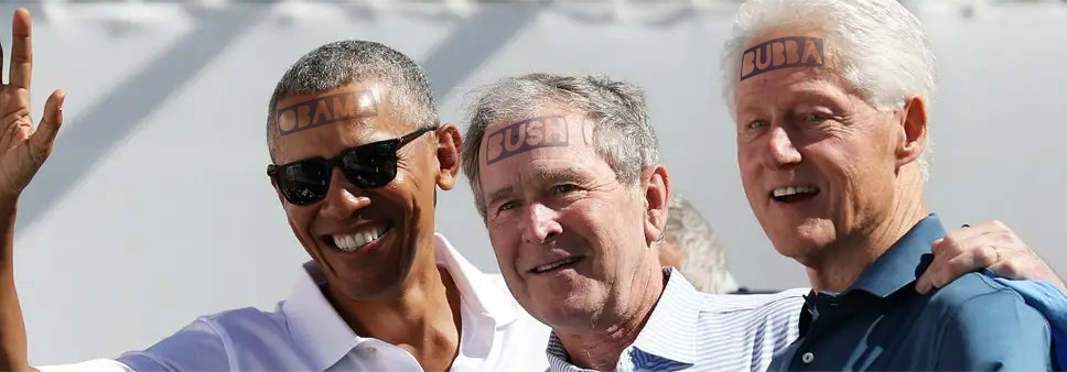Obama Bush Clinton golf buddies