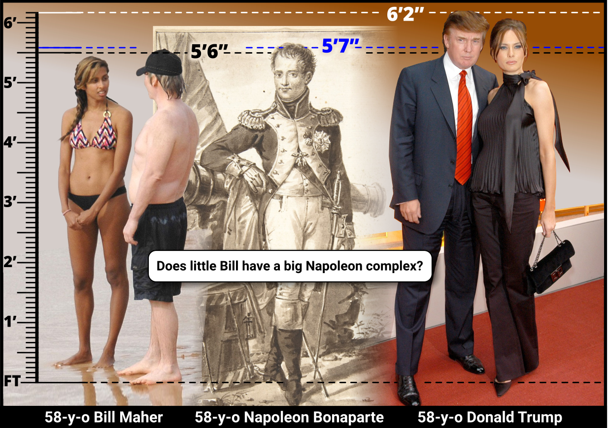 How short is Bill Maher?