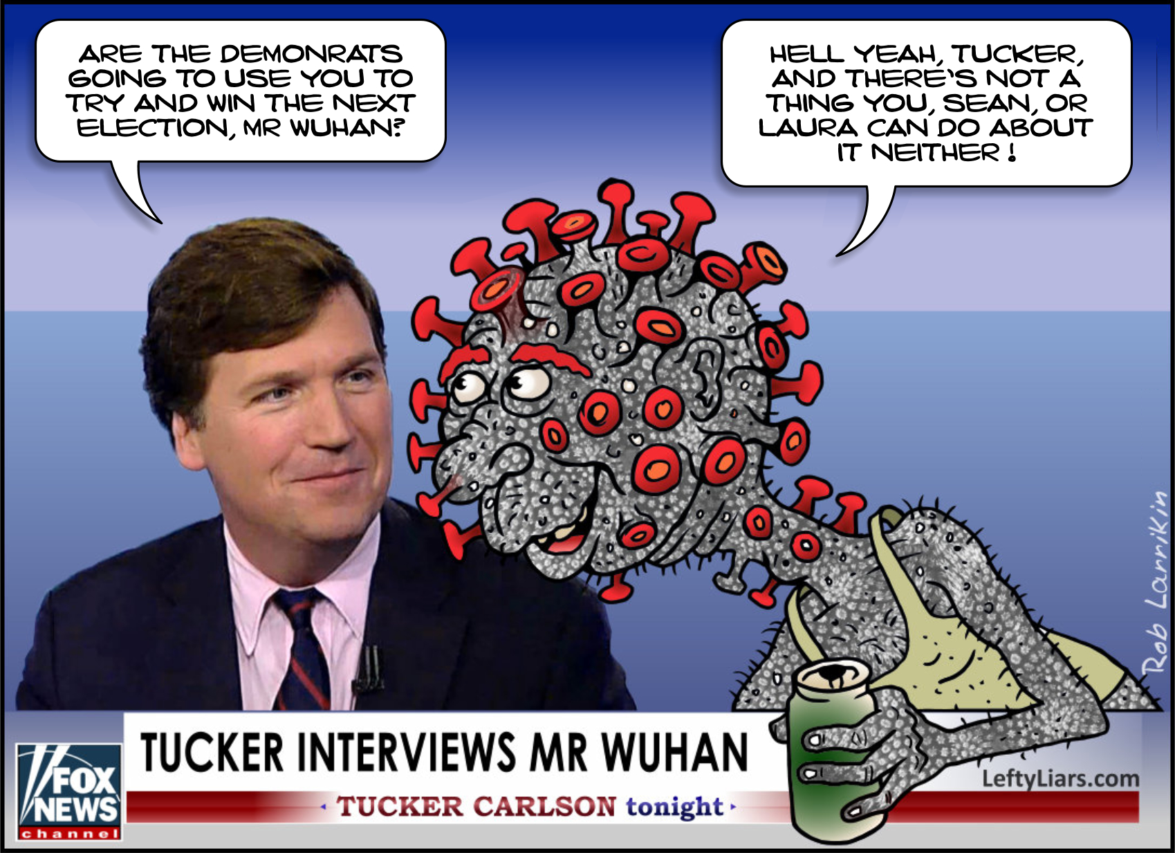 tucker carlson interviews wuhan virus