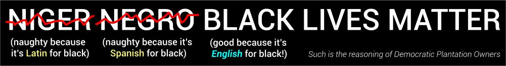 Niger negro Black Lives Matter
