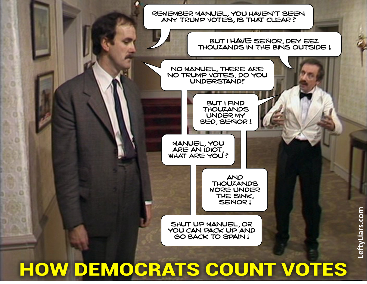 Fawlty Democratic vote counters