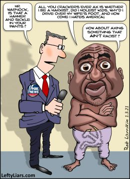 Raphael Warnock cartoon