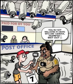 First Amendment Audit cartoon