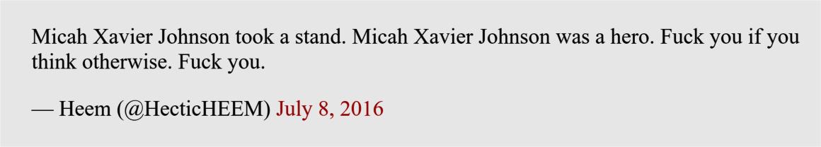 Hectic Heem, Rahim Ballar, supports mass murderer 2016
