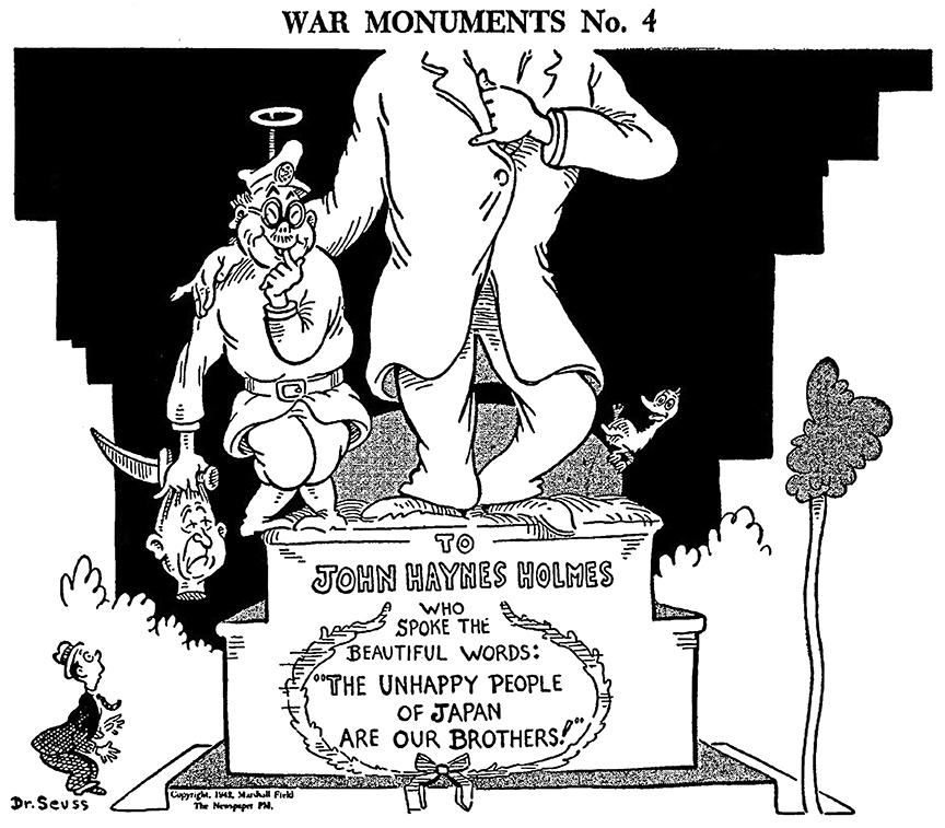 Tojo beheads pacifist John Haynes Holmes